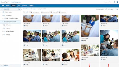 Folder browsing in OpenText