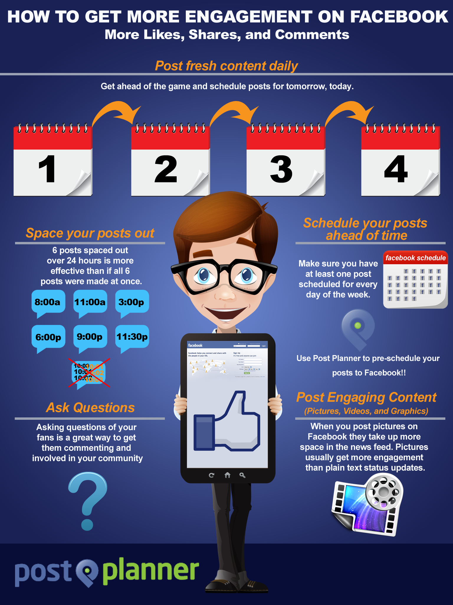 Infographic How To Get More Engagement On Facebook