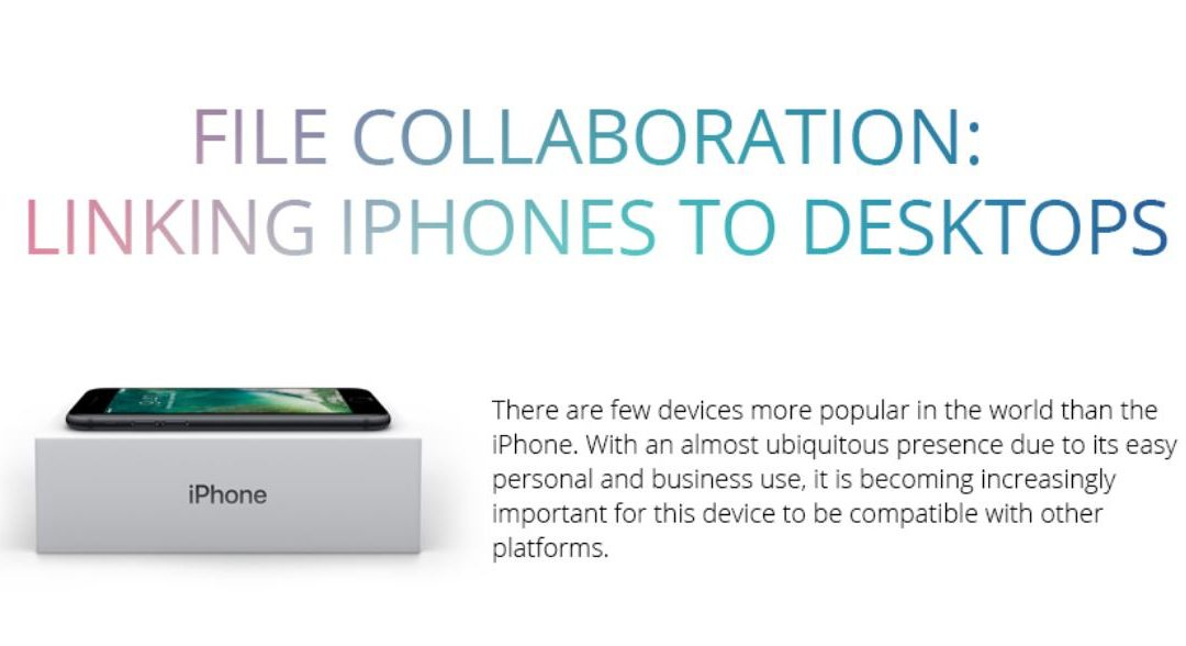 File Collaboration: Linking iPhones to Desktops [Infographic]