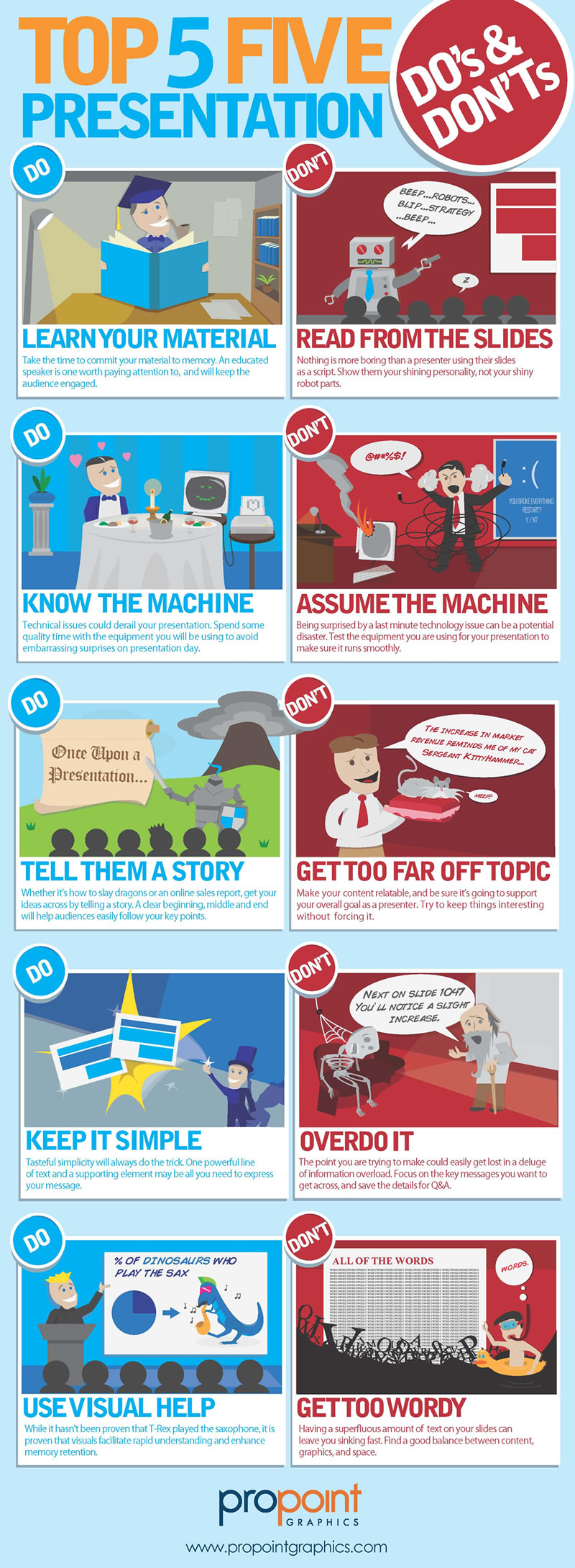 Presentation Skills Do's and Don'ts infographic