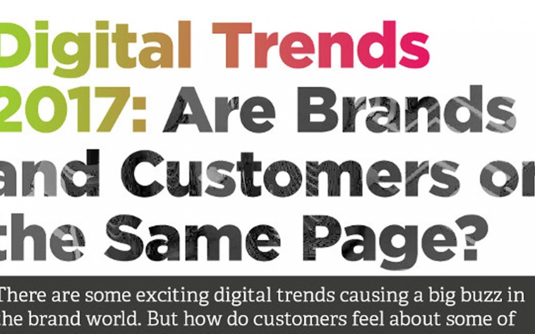 Digital Trends 2017: Are Brands and Customers on the Same Page? [Infographic]