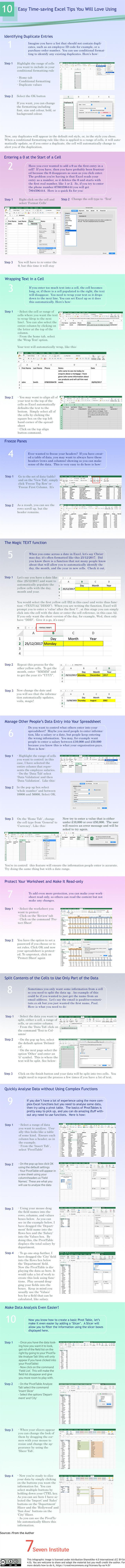 Tricks Using Excel and More Time-Saving Tips [Infographic]