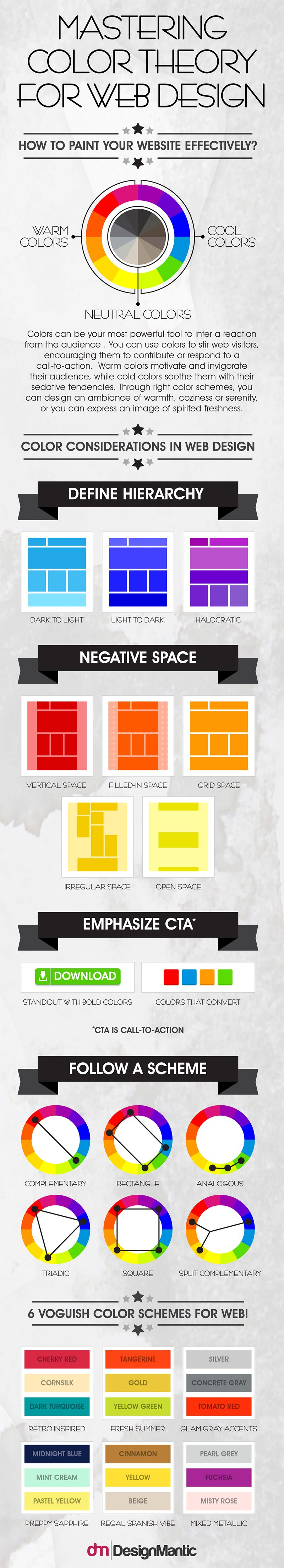 Infographic Color Theory Website Design