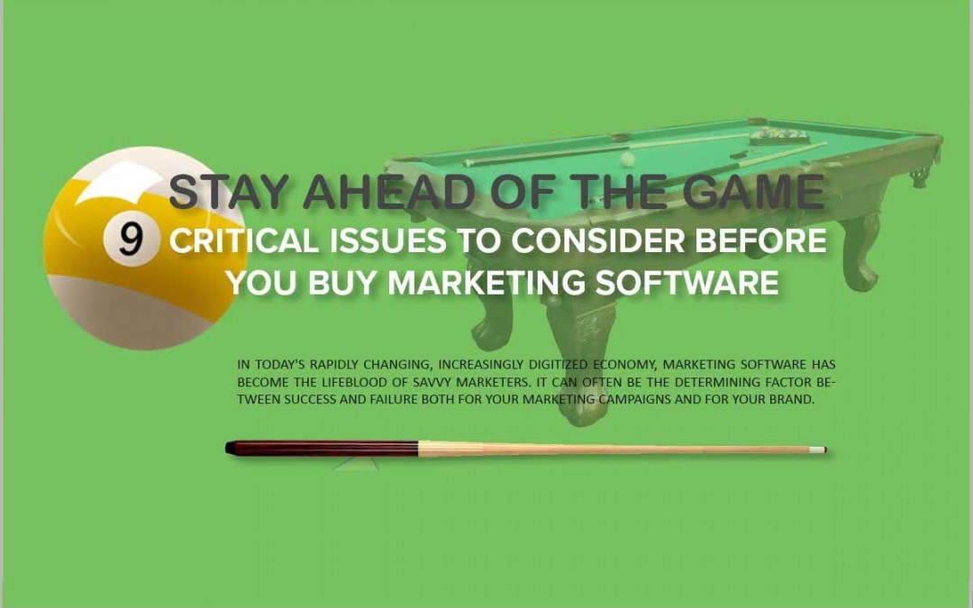 Nine Critical Issues to consider before Buying Marketing Software [Infographic]