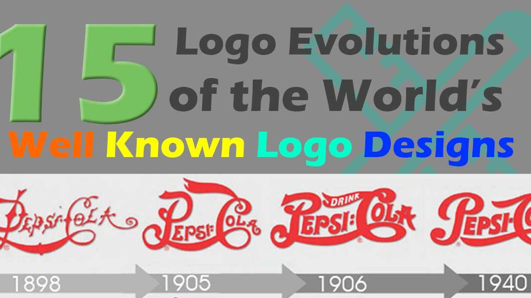 15 Logo Evolutions of the World's Well Known Logo Designs [Infographic]
