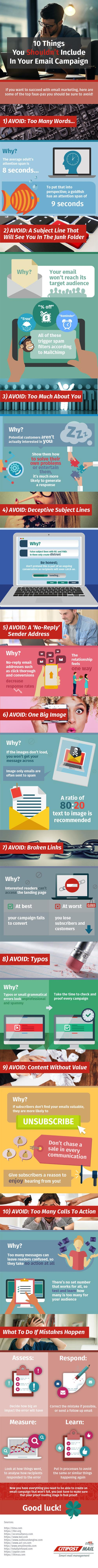 Email Campaign Today and 10 Ways To Ruin It [Infographic]