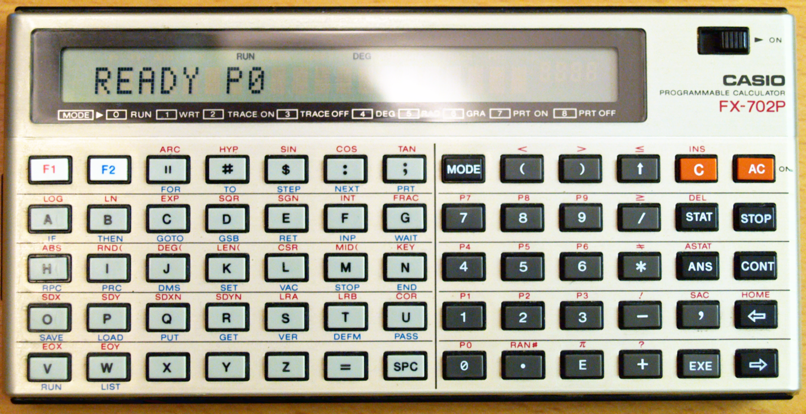 Casio FX-702P Programmable Calculator