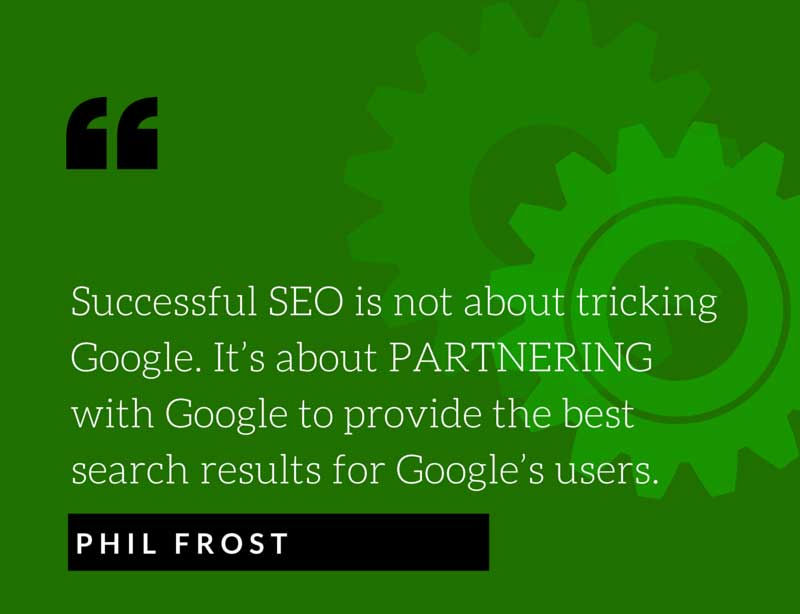 SEO quote from Phil Frost Main Street ROI