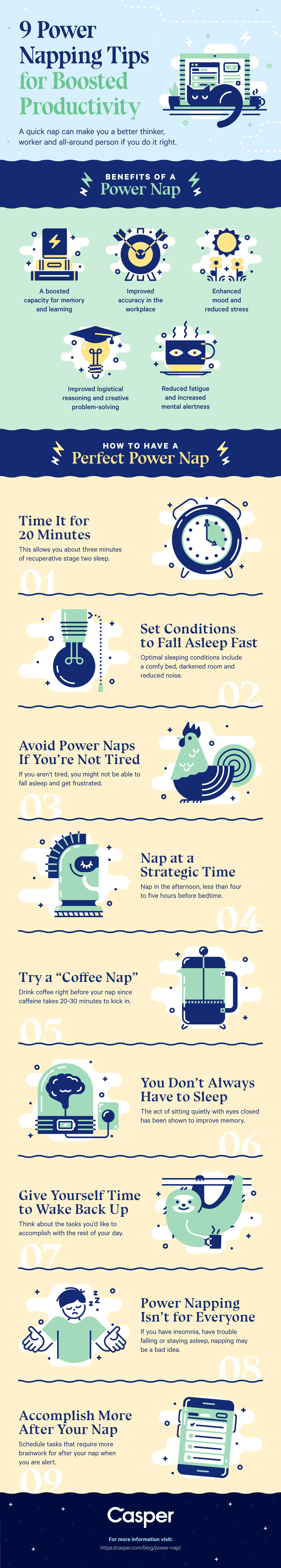 5 Tips to Supercharge Your Power Nap Infographic