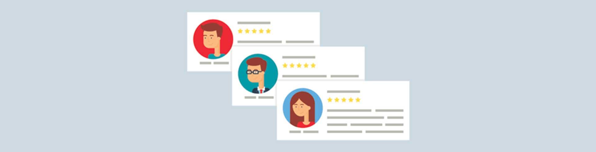Website Client testimonials