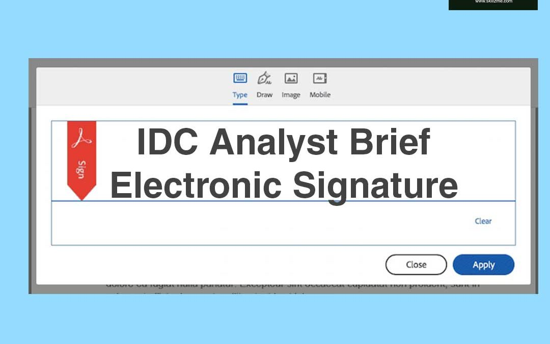 IDC Analyst Brief – Electronic Signature [Infographic]